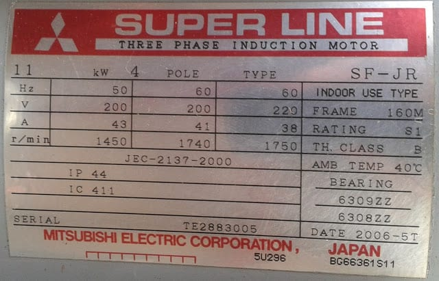 motor nhật cũ superline 3.7kw